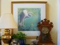 solitude-great-egret-original-watercolor-by-kathleen-noffsinger in situ