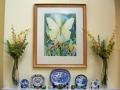 transparent-butterflies-original-watercolor-by-kathleen-noffsinger in situ